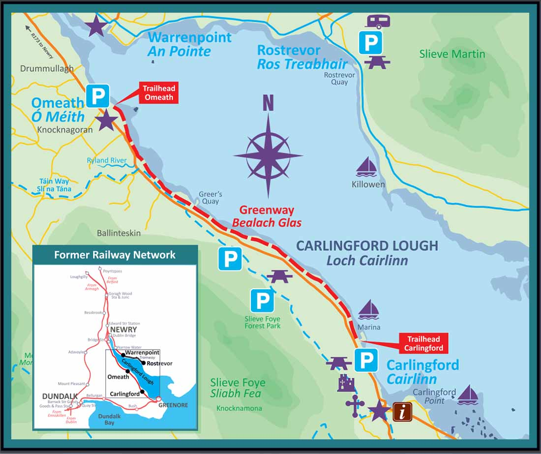Carlingford Omeath Greenway Map