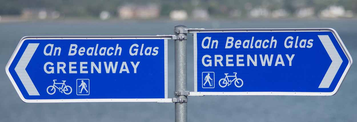 Carling Omeath Greenway Signpost