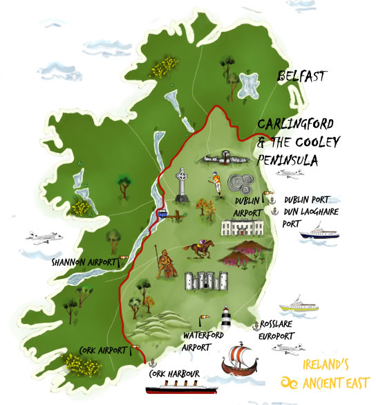 Cooley Peninsula Tourism Information Carlingford Tourist Office - Irish legends
