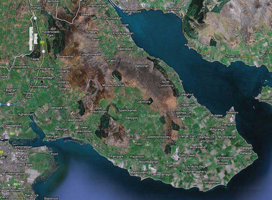 Carlingford and The Cooley Peninsula Map